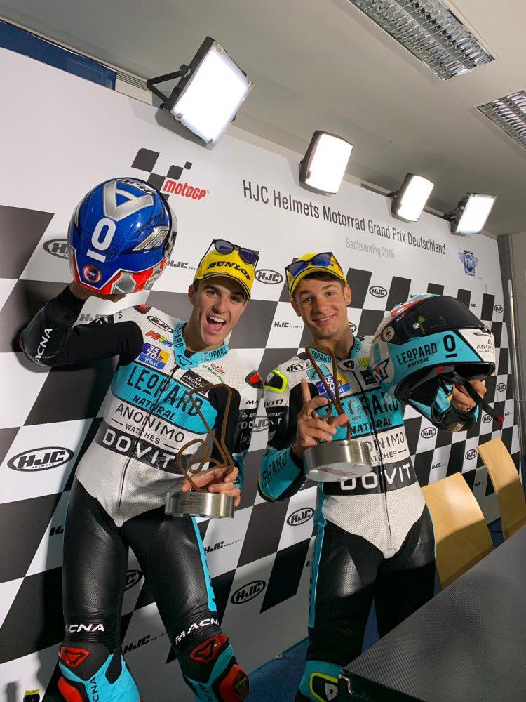Doppia affermazione con il Team Leopard moto3!!